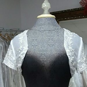 marys Dresses - White Bridal Bolero by PC Marys